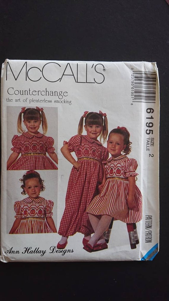 01aff3f78 Uncut McCalls 6195 Size 2 toddler cute girls Summer holiday or
