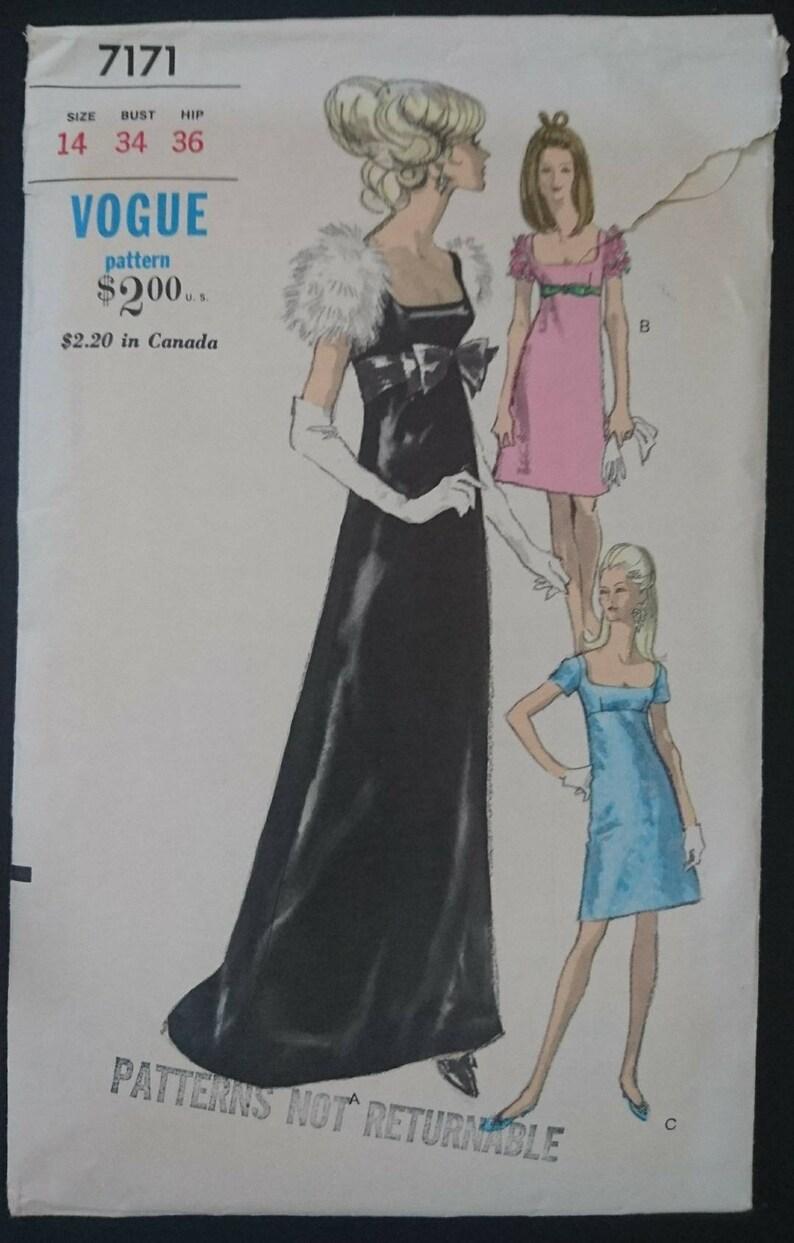 04ddb0600 Vogue 7171 b34 empire waistline baby doll dress pattern | Etsy