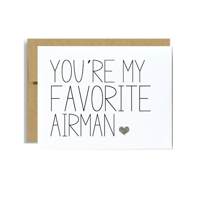 Air force military airman card you are my favorite airman greeting card air force graduation military care package deployment card airman