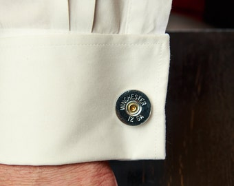 Mens Bullet Cufflinks - 12 Gauge Cufflinks - Groomsmen Gift / Dad Gift
