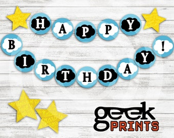 Fault in Our Stars Happy Birthday Banner Printable Download