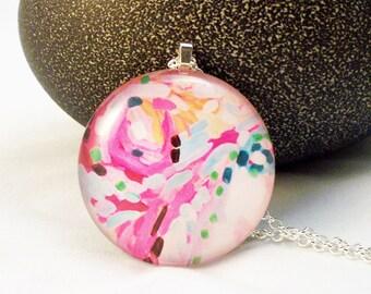 Pink Fun Glass Pendant