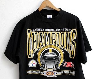 f50f8764e LARGE Vintage 1996 Steelers Champions Super Bowl XXX Black T-Shirt