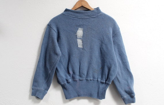 XS/S Antique 30s/40s '1' Racing Sweater