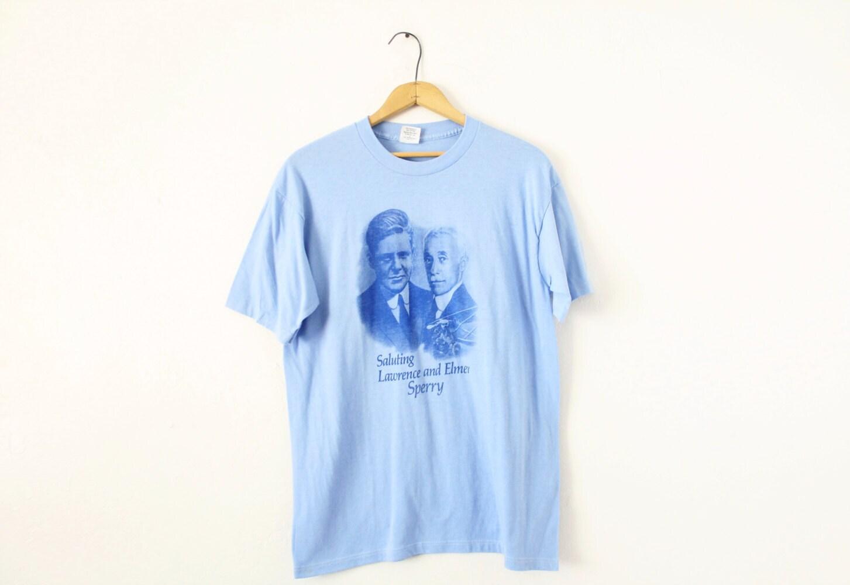 MOYENNE MOYENNE MOYENNE (serré) Vintage 1980 Sperry douce et fine Graphic T-Shirt 9fa79b