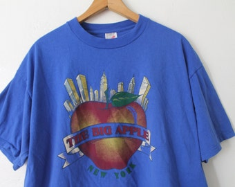 XLARGE Vintage 1990s The Big Apple New York City Graphic T-Shirt