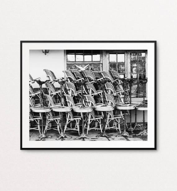 Paris Bistro Chairs Photograph, Paris Photography, Paris Print, Paris Decor, Paris Wall Art Print, Paris Bedroom Decor
