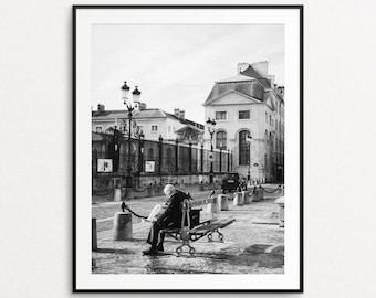 Paris Street Photo - Paris Photography, Paris Print, Paris Decor, Paris in Black and White, Home Decor, Val de Grace