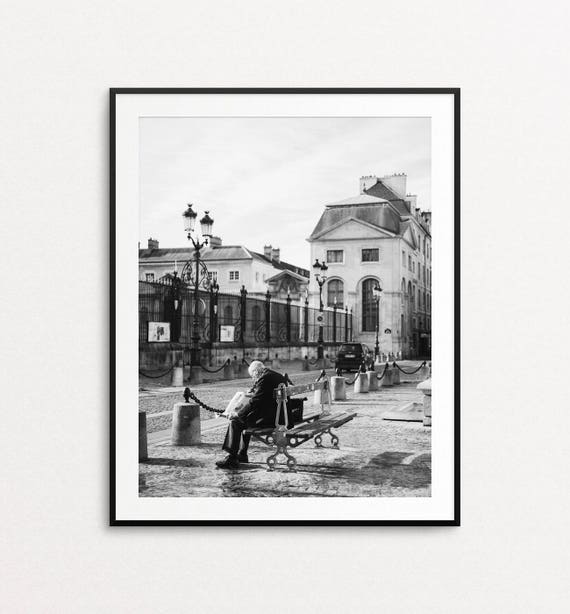 Paris Street Photo - Paris Photography, Paris Print, Paris Decor, Paris in Black and White, Home Decor, Val de Grace