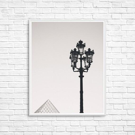 Paris Photography, Paris Architecture, Paris Print, Louvre Photograph, Paris Lamppost, Paris Bedroom Decor, Paris Decor, Paris Wall Art