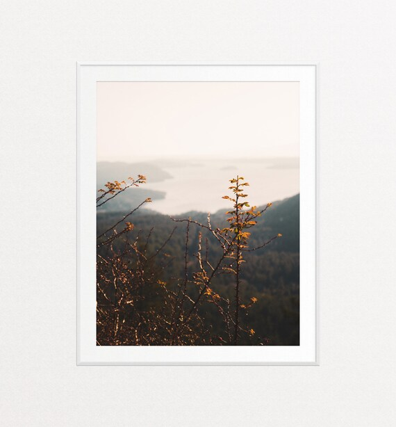 PNW Art, PNW Print, Nature Prints, Nature Wall Art, Puget Sound Print, San Juan Islands Print, Sunset Wall Art, Sunset Print