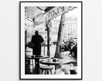 Paris Cafe Photo, Paris Print, Paris Wall Art, Paris Decor, Paris Street Photography, Large Wall Art, Paris Cafe Print, Cafe de Flore