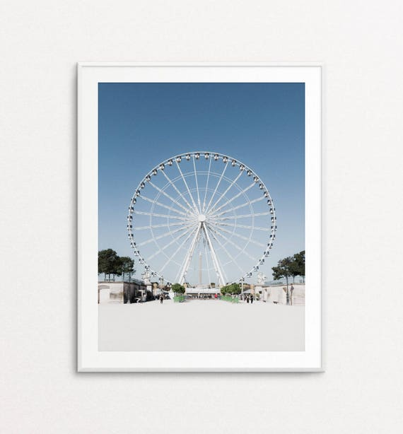 Paris Photography, Tuileries Gardens, Paris Print, Ferris Wheel Photo, Paris Decor, Paris Bedroom Decor, Paris Photos, Paris Wall Art