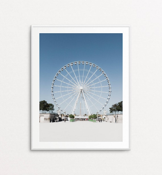 Paris Photography, Tuileries Gardens, Paris Print, Ferris Wheel Photo, Paris Decor, Paris Bedroom Decor, Paris Photos, Paris Wall Art