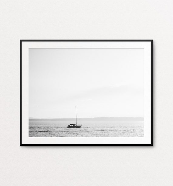 Ocean Print, Ocean Decor, Ocean Wall Art, Sea Print, Sea Wall Art, Boat Print