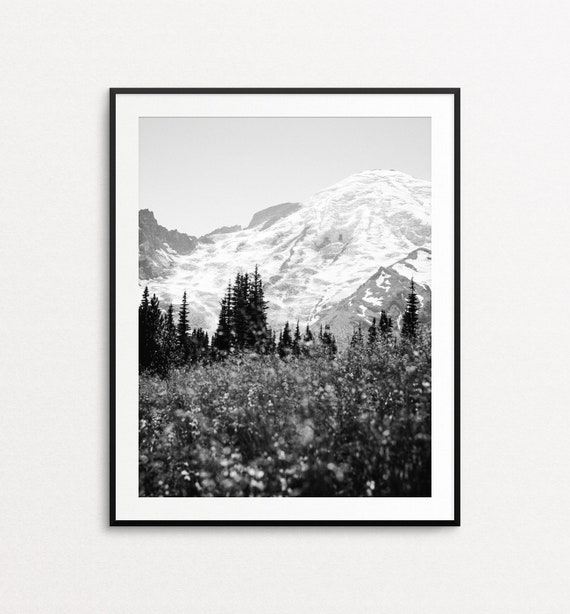 Mount Rainier Print, Mountain Print, Nature Wall Art, Nature Photography, PNW Art, PNW Print