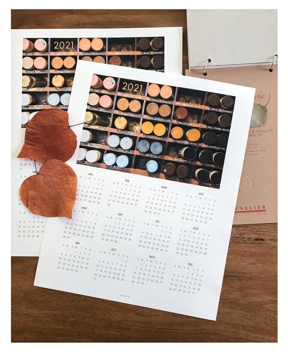 2021 Desk/Wall Calendar: Sennelier Oil Pastels