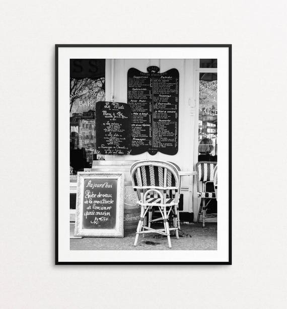 Paris Photography, Paris Cafe Print, Paris Print, Paris Decor, Paris Bedroom Decor, Paris Wall Art, Kitchen Decor, Paris Cafe Chairs