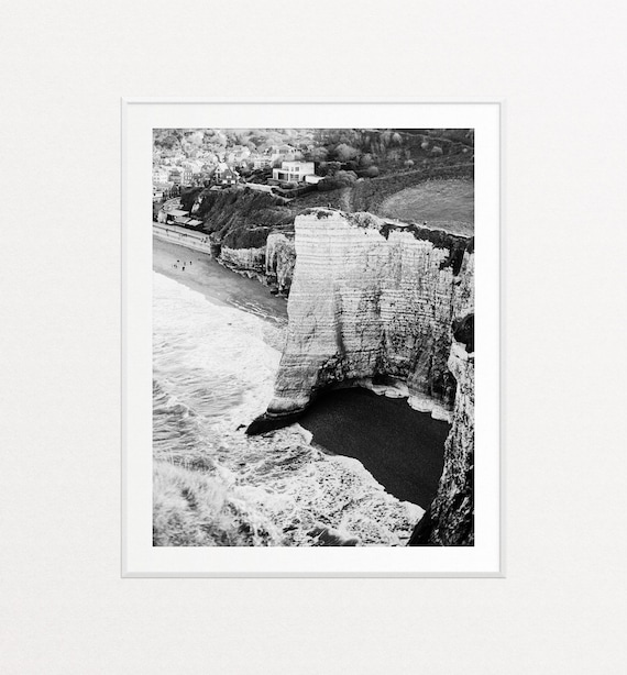 Étretat Normandy Print, Normandy Landscape, Ocean Print, Ocean Wall Art, White Chalk Cliffs
