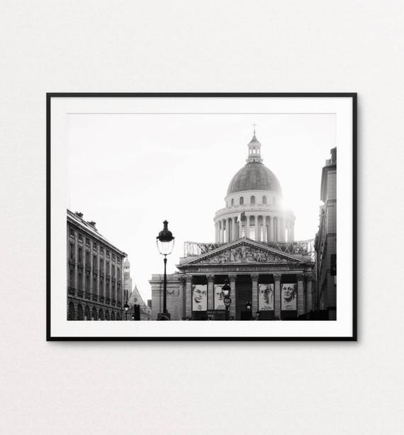 Paris Photography, Paris Pantheon, Paris Print, Paris Black and White, Paris Architecture, Paris Decor, Home Decor, Paris Wall Art