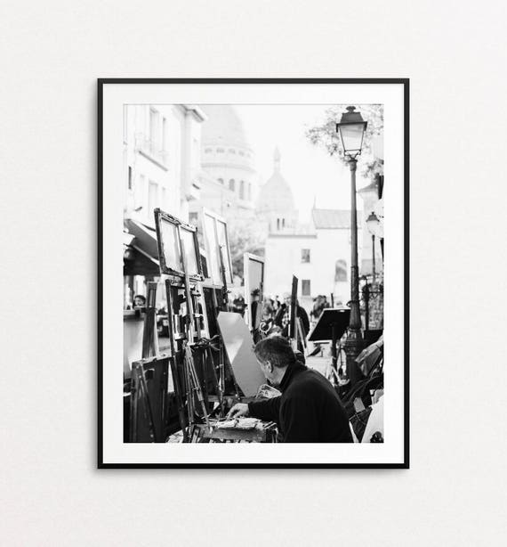 Paris Photography, Montmartre Photograph, Paris Print, Paris Bedroom Decor,  Paris Decor, Home Decor, Paris Wall Art