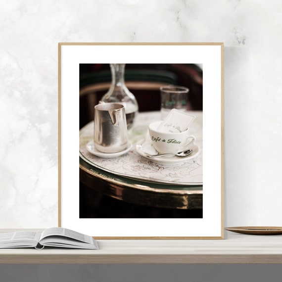 Paris Cafe Photo, Paris Print, Paris Wall Art, Paris Decor, Large Wall Art, Paris Cafe Print, Cafe de Flore