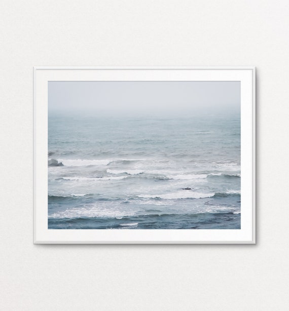 Ocean Print, Ocean Decor, Wall Art Calm, Atlantic Ocean