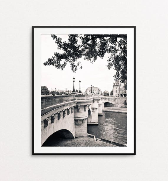Pont Neuf Photo - Paris Photography, Paris Print, Paris in Black and White, Paris Decor, Paris Bedroom Decor, Paris Wall Art