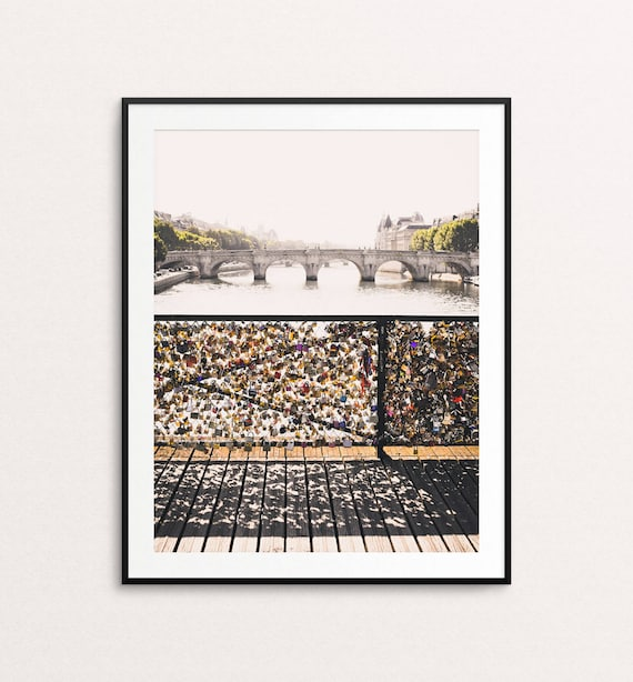 Paris Photography - Pont des Arts, Paris Print, Pont Neuf, Paris Decor, Paris Pictures, Paris Bedroom Decor, Paris Photo, Paris Wall Art