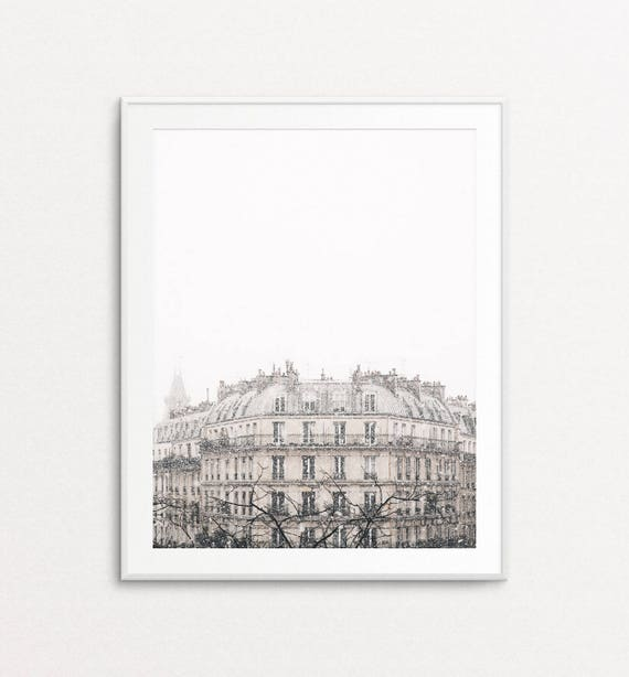 Snowfall in Paris Photo, Paris Photography, Paris Print, Paris Wall Art, Paris Bedroom Decor, Paris Decor, Home Decor, Paris Snowfall