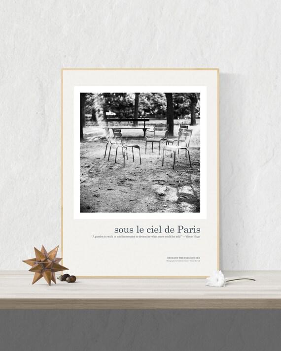 Paris Art Print Poster, Luxembourg Gardens Print, Paris Print, Paris Wall Art, Paris Poster