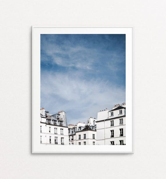 Paris Photography, Paris Rooftops, Paris Print, Paris Wall Art, Paris Bedroom Decor, Paris Photo, Paris Pictures, Home Decor