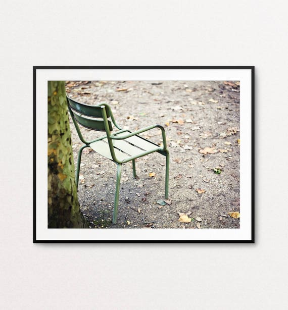 Paris Photography, Paris Print, Paris Cafe Chair, Paris Decor, Paris Bedroom Decor, Paris Wall Art Print, Luxembourg Gardens