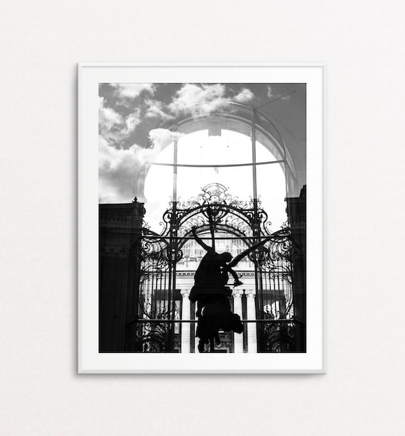 Angel Photograph - Paris Print, Paris Bedroom Decor, Paris Wall Art, Paris Photography, Petit Palais, Paris Reflection