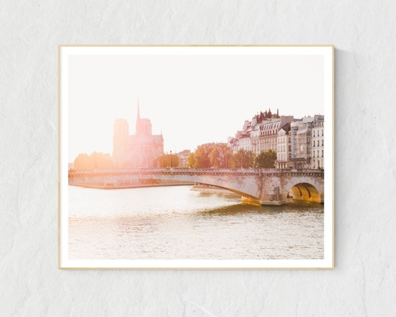 Notre Dame at Sunset, Paris Print, Paris Photography, Paris Bedroom Decor, Paris Decor, Paris Wall Art, Paris Images