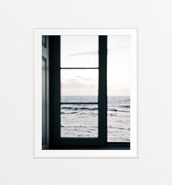Window View Print, Ocean View Wall Art, Ocean Print, Ocean Wall Art, Porto Portugal