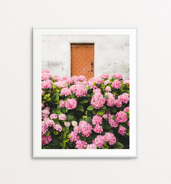 French Country Photography, Floral Photography,  Hydrangeas Photo, Dreamy Photo, Pink Hydrangeas, Floral Print Art, Floral Wall Art Print