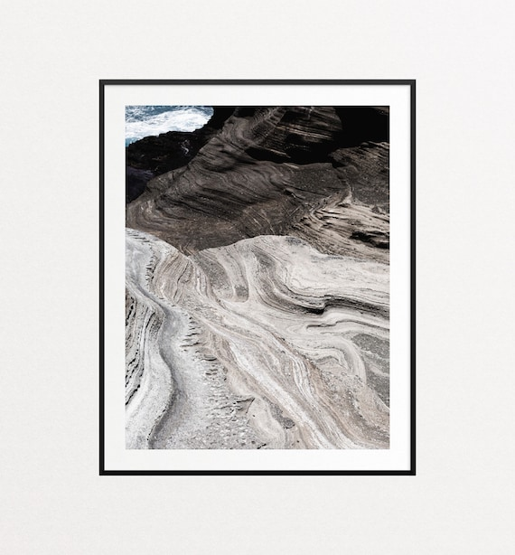 Rock Detail on Lanai Lookout Print, Nature Print, Nature Wall Art, Hawaii Print, Ocean Wall Art, Ocean Decor, Ocean Print