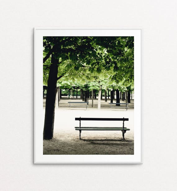 Luxembourg Gardens Photo - Paris Photography, Paris Bench, Paris in the Spring, Paris Decor, Home Decor, Paris Print, Paris Wall Art Print