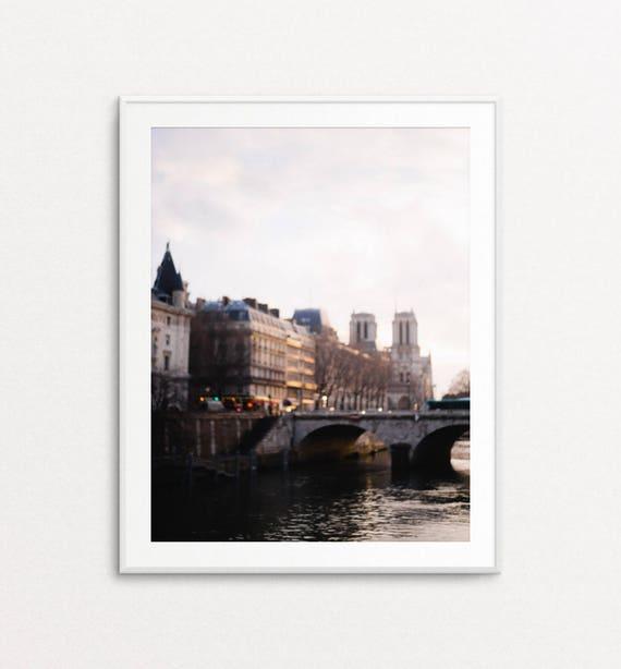 Dreamy Paris Photography, Notre Dame Print,  Paris Decor, Paris Photo, Paris Print, Paris Wall Art, Paris Bedroom Decor, Paris Light