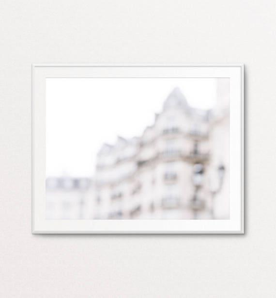 Paris Wall Art, Paris Decor, Paris Print, Paris Bedroom Decor, Paris Photography, Wall Art Blur Photography, Stylish Wall Art