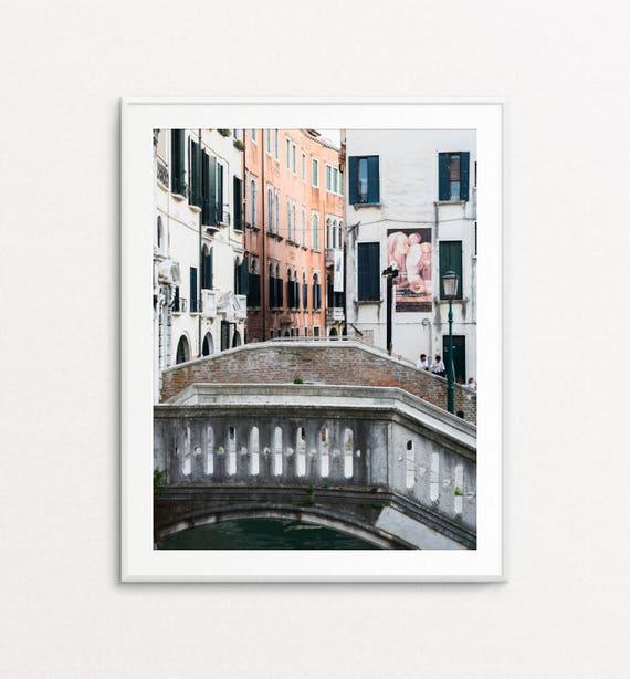Venice Wall Art, Venice Print, Venice Photography, Venice Art, Venice Italy, Venice Bridge, Venice Colors, Interior Design, Home Decor