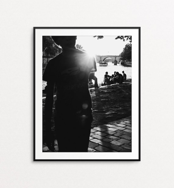 Paris Photography, Paris Print, Paris Decor, Paris Wall Art, Paris Street Photography, Seine River, Paris Large Wall Art Print