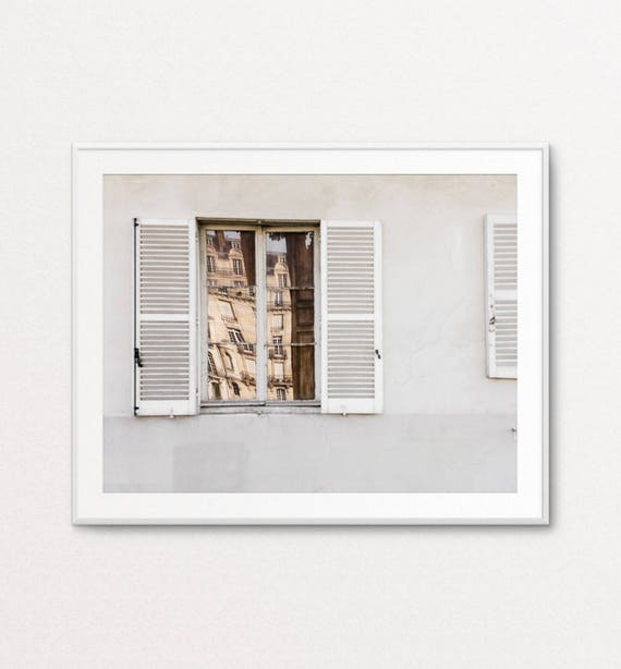 Paris Decor, Paris Print, Paris Bedroom Decor, Paris Wall Art, Paris Photography, Paris Reflection, Paris Architecture,  Paris Images