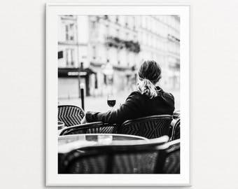 Paris Photography, Paris Cafe Print, Paris Print, Paris Decor, Paris Wall Art, Paris Kitchen Decor, Paris Street Photography