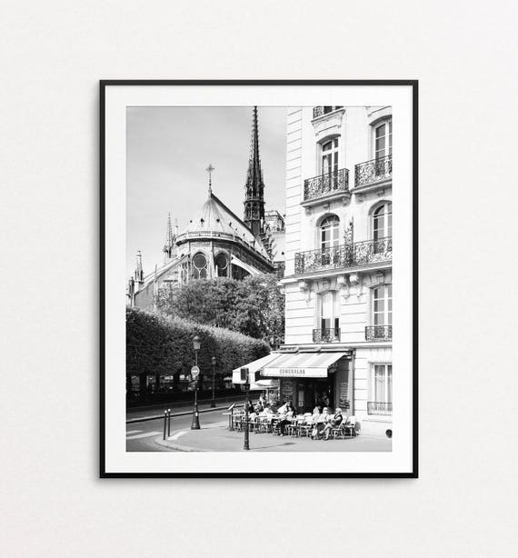 Notre Dame Cathedral, Paris Print, Paris Cafe, Paris Photo, Paris Wall Art, Paris Architecture, Paris Decor, Paris Bedroom Decor, Esmeralda