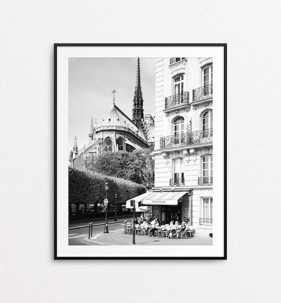 Notre Dame Cathedral, Paris Print, Paris Cafe, Paris Photo, Paris Wall Art, Paris Architecture, Paris Decor, Paris Bedroom Decor, Esmeralda