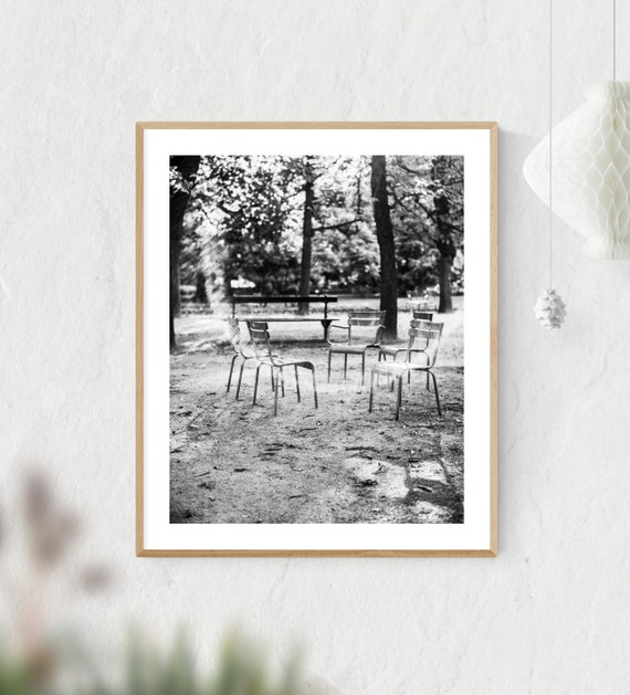 Paris Print, Print Decor, Paris Wall Art, Luxembourg Gardens, Paris Photography