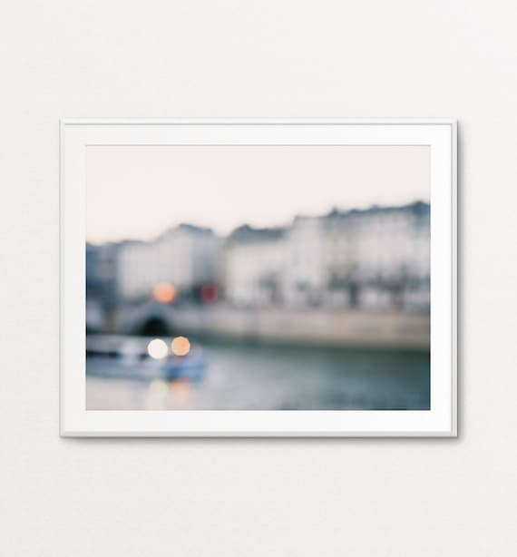 Paris Print, Paris Decor, Paris Wall Art, Paris Bedroom Decor, Paris Photography, Wall Art blur photography, Wall Art Calm