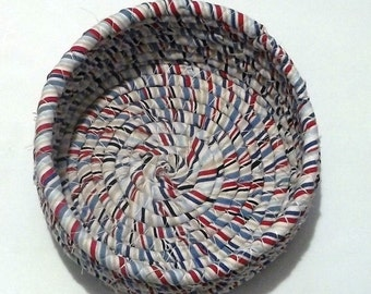 Striped Fabric Coiled Bowl